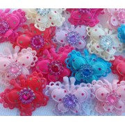 3.5cm Butterfly Eyelet Edge - 6 colours available