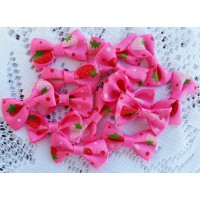 25mm Ribbon Bow - Hot Pink