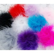 "3"" Marabou Feather Puff - 10  colours available"