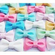 "3"" Glitter Bows  - 7 colours available"