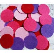 1. or 25mm Felt Circles - 4 colours available