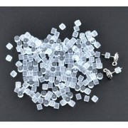 Clear Tube Rubber Back Earring Stoppers
