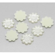 13mm Flat back Faux Daisy Pearl Embellishment