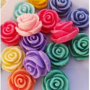 24mm Rose Flat back Resin Cabochon