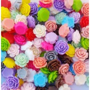 14mm Flat back Rosette Flower Resin