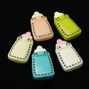 22mm Milk Bottle Flat Back Resin