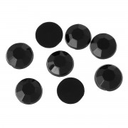 6mm Flat Back Acrylic Rhinestone - BLACK