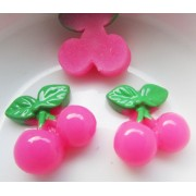 18mm Cherries  Flat back Resin