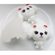 22mm Puppy Flat back Resin - White