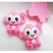 18mm Cute Baby Monkeys Flat back Resin