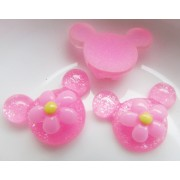20mm Mini Minnie w/ Flower Flat back Resin